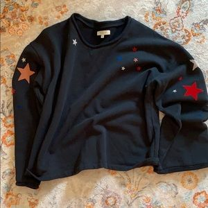Madewell cropped star sweatshirt